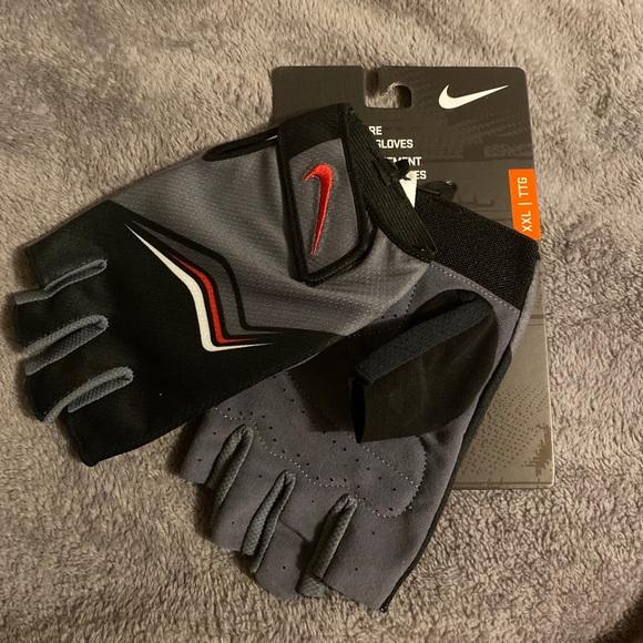 Grey x Blue NIKE Men/'s Core Lock Training Gloves 2.0